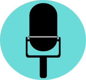 black_microphone_on_baby_blue_background