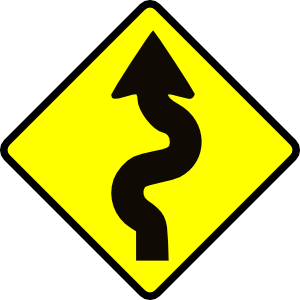 rugged road sign
